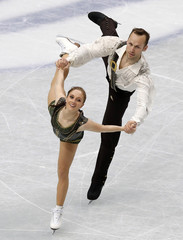 Germany's Maylin and Daniel Wende compete during the pairs free skating program at the ISU World Figure Skating Championships in Saitama