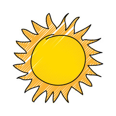summer sun drawing icon vector illustration design