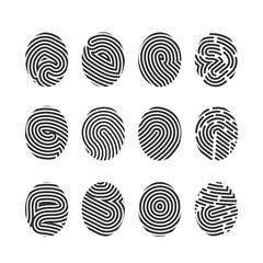 Set of finger print icons