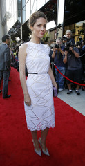 """Rose Byrne poses at the premiere of """"Blue Jasmine"""" at the Academy of Motion Pictures Arts and Sciences in Beverly Hills"""