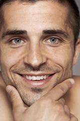 Portrait of a smiling man close-up