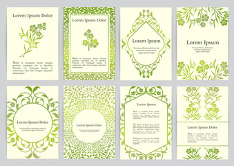 Vector templates for A4 with florals