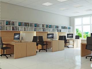 Интерьер офисного кабинета для сотрудников
