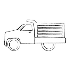 drump truck isolated icon vector illustration design