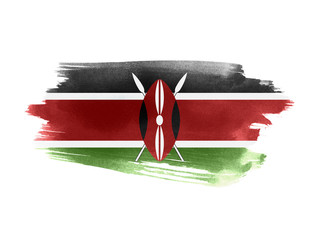 Kenya flag grunge painted background Wall mural