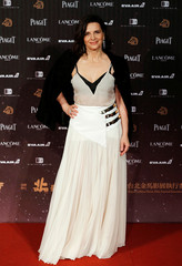 French actor Juliette Binoche poses on the red carpet at the 53rd Golden Horse Awards in Taipei, Taiwan