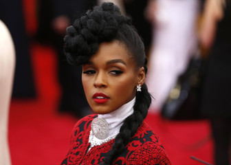 "Singer Janelle Monae arrives at the Metropolitan Museum of Art Costume Institute Gala Benefit celebrating the opening of ""Charles James: Beyond Fashion"" in New York"