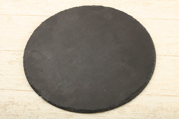 Black stone plate
