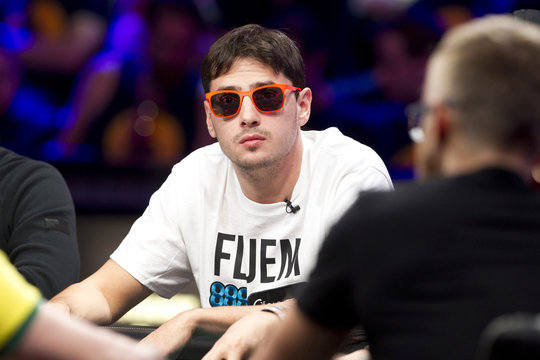 Mark Newhouse, 29, of Chapel Hill, N.C., competes during 2014 World Series of Poker main event final table at Rio hotel-casino in Las Vegas