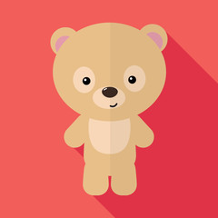 Image of a little bear. Flat design