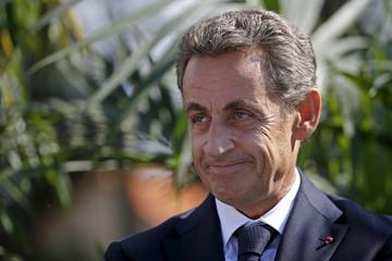 Sarkozy attends the summer university camp held by Loire-Atlantique Republicans Party in La Baule