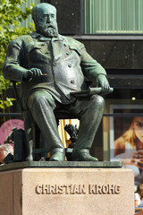 Statue of Norwegian Painter Christian Crohg in Oslo