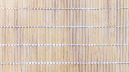 Wooden bamboo mat texture wood background