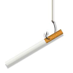 Cigarette - dépendance - fumer - tabac - addiction -hameçon