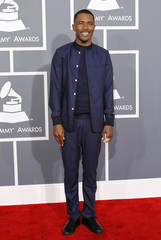 Singer-songwriter Frank Ocean arrives at the 55th annual Grammy Awards in Los Angeles