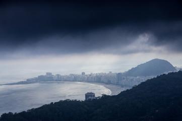 Blick auf die Copacabana, Rio de Janeiro, Brasilien