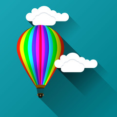 Balloon against the background of clouds