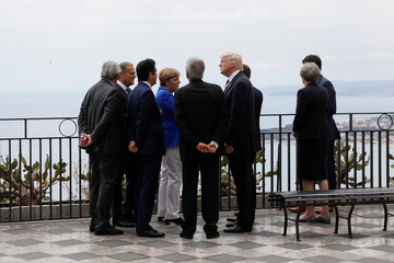G7 leaders gather as they attend the G7 Summit in Taormina