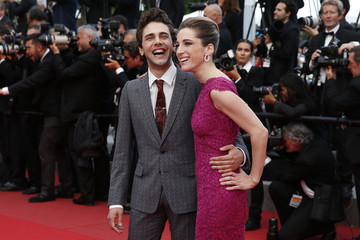 """Jury member film director and actor Xavier Dolan and producer Nancy Grant  arrive for the screening of the film """"Sicario"""" in competition at the 68th Cannes Film Festival in Cannes"""