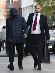 Undercover reporter Mahmood arrives at the Old Bailey courthouse in London