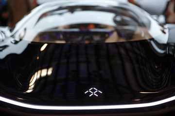 Faraday Future FFZERO1 electric concept car is presented during the Auto China 2016 auto show in Beijing