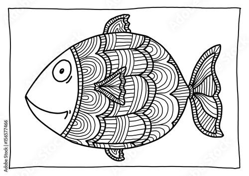 Ausmalbild Fisch Stockfotos Und Lizenzfreie Bilder Auf Fotolia Com
