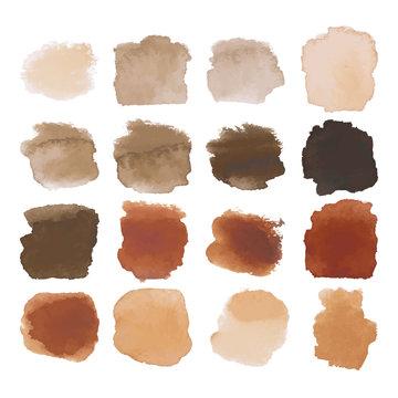 Brown blots watercolor set
