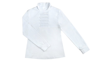 white women's shirt isolated on a white background