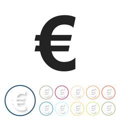 Bunte 3D Buttons - Euro Währung