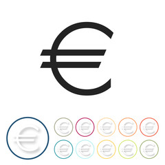 Bunte 3D Buttons - Euro
