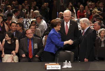 U.S. Supreme Court Justice nominee Kagan arrives for her Senate Judiciary Committee confirmation hearing in Washington
