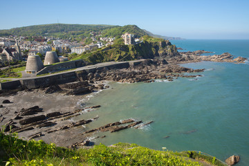 Wall Mural - Ilfracombe Devon England UK tourist destination in summer with blue sky
