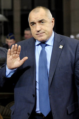 Bulgaria's Prime Minister Boyko Borisov arrives at a European Union summit in Brussels