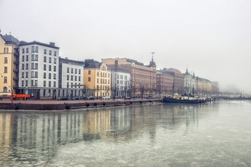 City landscape in Helsinki, Finland