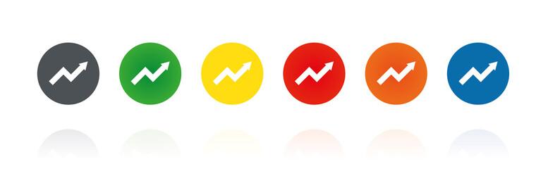 Statistik - Aufstieg - Farbige Buttons