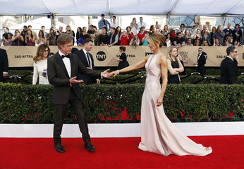 William H. Macy and Felicity Huffman arrive at the 23rd Screen Actors Guild Awards in Los Angeles