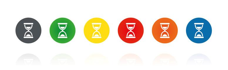 Sanduhr - Farbige Buttons