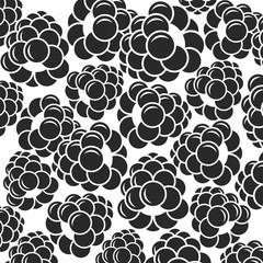 Blackberry. Black berries on white background