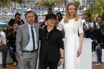 """Director Olivier Dahan, cast members Nicole Kidman and Tim Roth pose during a photocall for the film """"Grace of Monaco"""" out of competition before the opening of the 67th Cannes Film Festival in Cannes"""