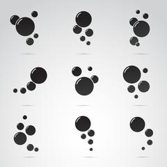 Bubble vector icon set.