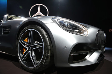 Mercedes introduces the 2017 AMG GT C Roadster at the 2016 Los Angeles Auto Show in Los Angeles
