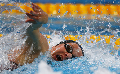 Luxemburg's Meynen competes in the women's 100m freestyle heat at the Aquatics World Championships in Kazan