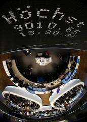The German share price index DAX board shows a new all-time high of over 9000 points at the stock exchange in Frankfurt