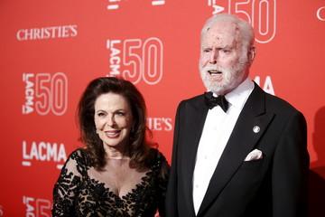 Producer Leonard Goldberg and Wendy Goldberg pose at LACMA's 50th anniversary gala in Los Angeles