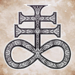 The Satanic Cross, the seal of demon Leviathan.