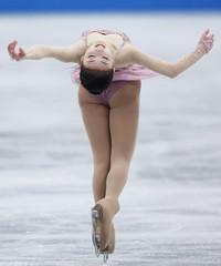 Zijun Li of China performs during the women's free skating at ISU Grand Prix of Figure Skating's NHK Trophy event in Sendai