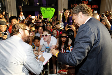 "Galifianakis and Ferrell sign autographs at the premiere of ""The Campaign"" at the Grauman's Chinese theatre in Hollywood"