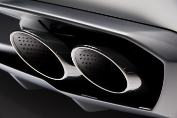 exhaust pipes modern sports car