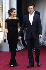 Actor Robert Downey Jr. and wife Susan Levin arrive at the 83rd Academy Awards in Hollywood