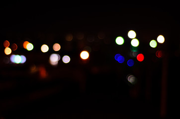 Night lights of big city, bokeh as a background